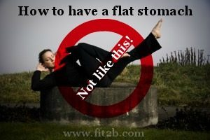 "How to get a flat stomach WITHOUT doing crunches or ""criss cross"" - fit2b.com"