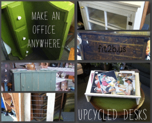 So many fun options for making your own unique desk area that you can walk up to and work and walk away!