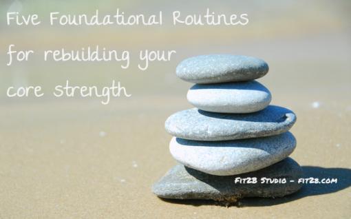 Five simple foundational routines designed to help the most broken tummies start to rebuild #diastasisrecti #diastasis - fit2b.com