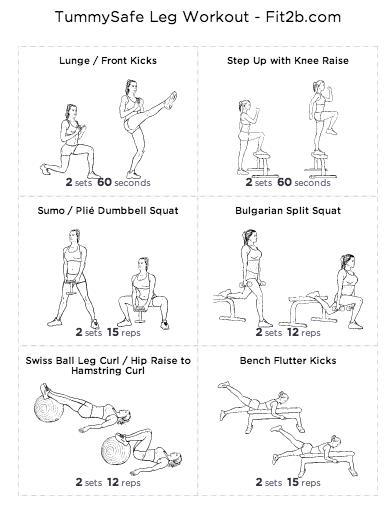 TummySafe Lower Body Workout by fit2b.com
