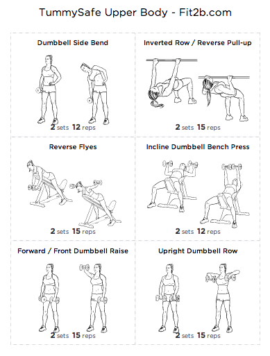 TummySafe routine for the Upper Body from fit2b.com