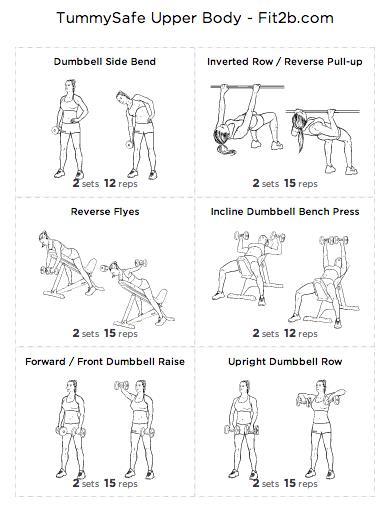 TummySafe Upper Body Workout - Fit2B Studio