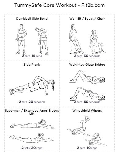 TummySafe Core Workout - Fit2B Studio
