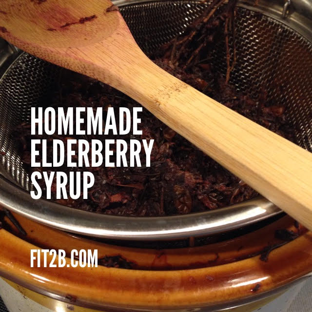 Homemade elderberry syrup - Fit2B.com