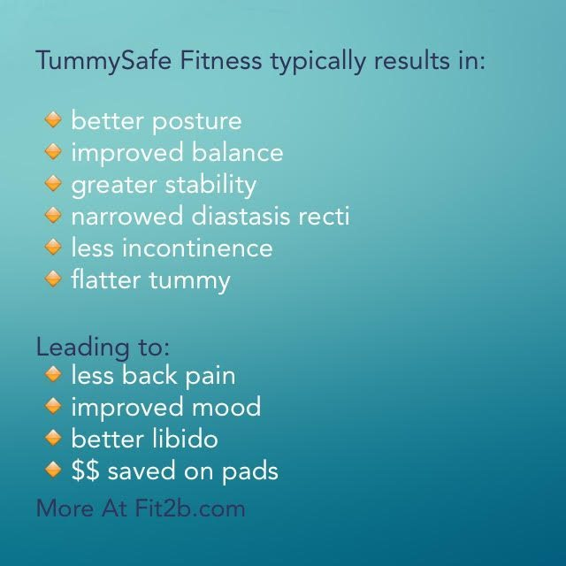 TummySafe Fitness is unique to Fit2B where we have almost 200 videos for subscribers to explore and exercise!