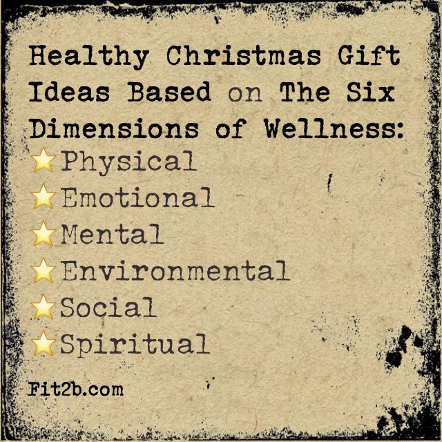 I've had a lot of fun compiling these 6 sections for you, and I hope you're reading this before you've completed your shopping. I mean, what a healthier, happier and deeper experience we could all have if we give things that nourish us and our families whole being: heart, soul, mind, strength. Here are gifts that play into those aspects of our wellbeing this year... fit2b.com
