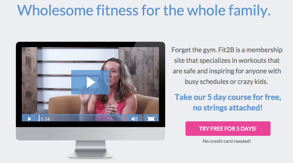 Get 5 free home fitness routines via web app - fit2b.com