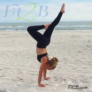 Handstand press is ridiculous and hard. However, I never could nail a handstand in my practice before either. But two years after I met you, Fit2B, look! -Katie G.