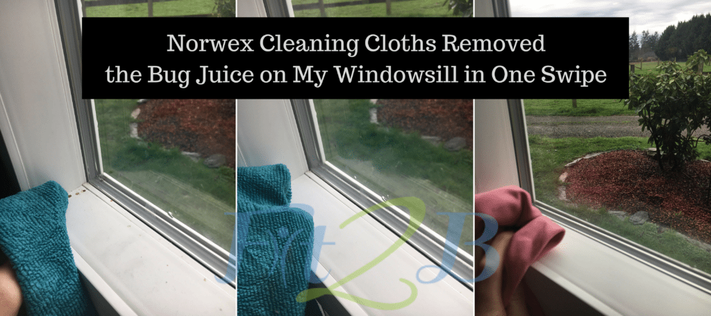 Norwex Cleaning Cloths Removed the Bug Juice in One Swipe