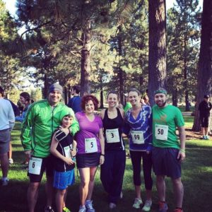Running with some of my employees in Bend!