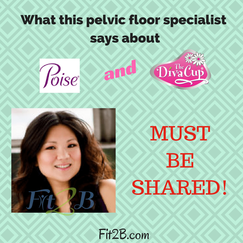 What this pelvic floor specialist says about Poise and Diva Cups must be shared! ~ Fit2B.com