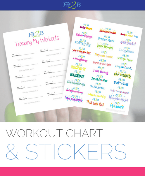 Fit2B Workout Chart & Stickers - 1