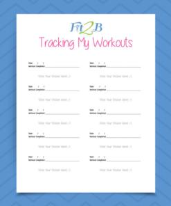 Fit2B Workout Chart & Stickers - Fit2B.com