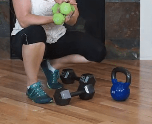 Weightlifting 301 - Workout with dumbbells, kettlebells and stretching with Fit2b.com
