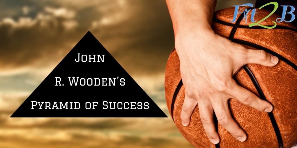 graphic relating to John Wooden Pyramid of Success Printable known as John R. Woodens Pyramid of Results In shape2B Studio