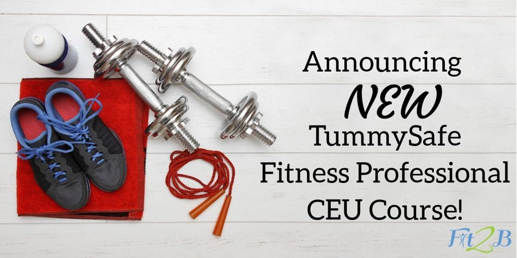 Announcing NEW TummySafe Fitness Professional CEU course! - Fit2B.com