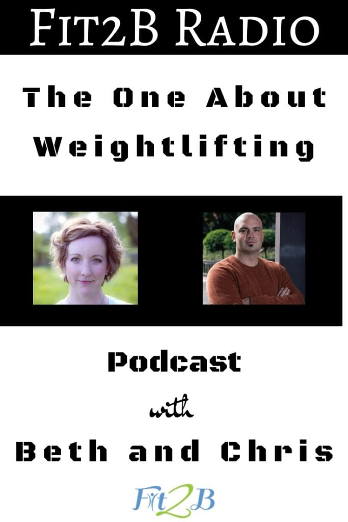 """EP 47 -The One About Weightlifting - Fit2B.com - Fit2B knows women are looking to workout at home or heading to the gym and wondering, """"What are the health benefits of weightlifting? Can kettlebell exercises also be a great ab workout? Are there diastasis recti exercises I can do safely while lifting weights? Listen in as our core workout expert, Beth Learn, talks to Chris about weightlifting for women and how you can keep your tummy safe! #fit2b #diastasisrectiexercises #weightlifting #kettlebellworkouts #abworkouts"""