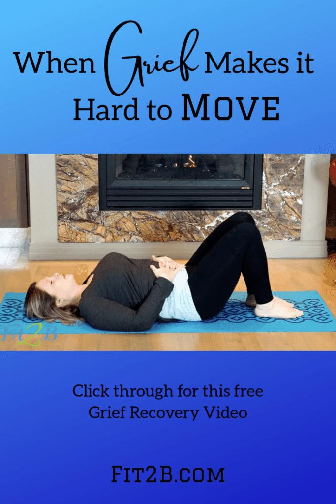 Grief Recovery Routine – E/TS - fit2b.com - When you are dealing with grief, esp over a miscarriage or loss of a young child, you have mom grief. If you struggle to simply move and lose all fitness motivation, this gentle stretching workout aims to help you process emotions as you loosen tension. #grief #griefandloss #grieving #griefjourney #miscarriage #childloss #fitness #fitnessjourney #endo #endometriosis #fertility #postpartum #diastasis #diastasisrecti #fit2b #womensupportingwomen #momlife #homeworkout #homeexercises #motherhood