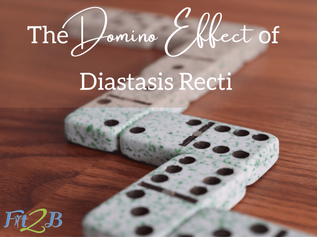 The Domino Effect of Diastasis Recti - Fit2B.com -Mama, tired of doing postpartum exercises & core workouts that lead to lower back pain? You might be a victim of the domino effect of core dysfunction like diastasis recti. Symptoms include ab gap, indigestion, poor posture. Watch & we can help you repair your health. #fit2b #diastasis #diastasisrecti #postpartum #homefitness #lowerbackpain #coredysfunction #coreworkout #postpartumbelly #postpartumexercises #diet #exercise #indigestion #poorposture #abgap #hope #health #healthy #healthylifestyle