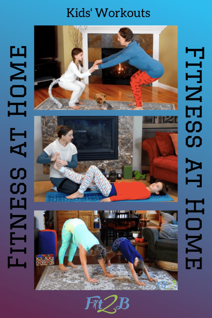 Fit2B Kids Workouts - Fit2B.com - Fit2B knows busy moms want a healthy lifestyle with health workouts that accomadate the WHOLE FAMILY! Why not click through to find short, fun workouts for your kids' fitness and then they will let you have your own fitness fun? These workouts to do with kids are fun and a good warm-up for your day if you want to join in--and it all counts in your exercise plan! As always, these are safe for those recovering from diastasis recti! #fit2b #diastasis_ recti #busy_moms #heatlthy_lifestyle #fitness