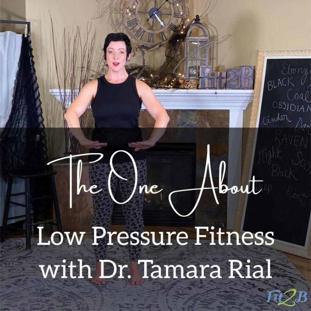 S2: 7 The One About Low Pressure Fitness With Dr. Tamara Rial - Fit2B.com - Fit2B knows hypopressives, low pressure fitness that employs breathing exercises, could be the key to helping with core weakness like diastasis recti, prolapsed uterus or prolapsed bladder. Once we learn how to exercise with this mind/body technique, could this health workout give us the fit lifestyle we want? Listen into our podcast! #fit2b #diastasisrecti #coreweakness #breathingexercises #lowpressurefitness #hypopressives #posturecorrection #pelvicfloorhealth #exercisesfitness #howtoexercise