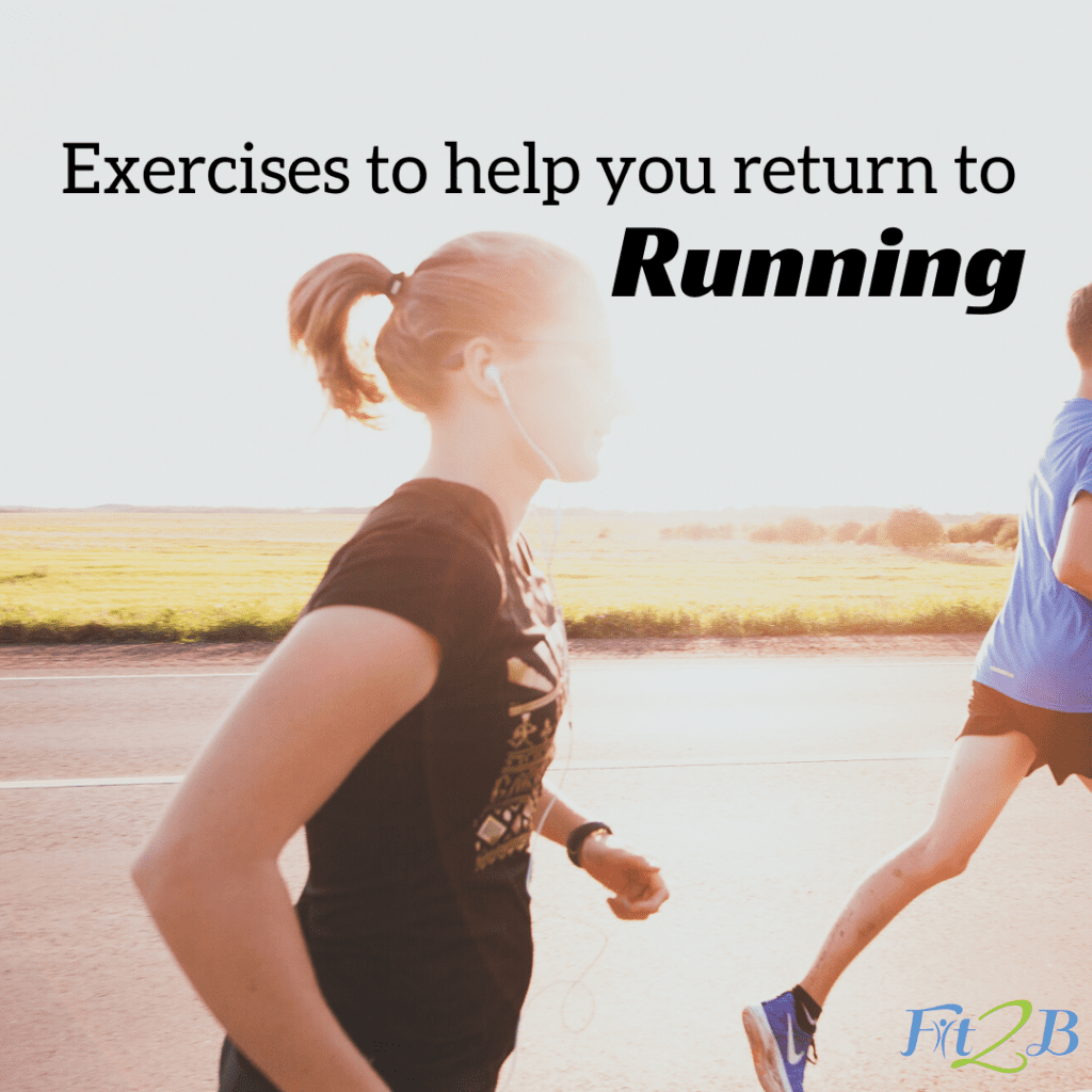 4 Exercises for a Safe Return to Running After Baby - Fit2B.com - Fit2B knows it's a sad day for many postpartum women when they try to return to running, only to discover it doesn't feel right. If you're a woman who has had a baby (or several) and you want to make a safe, strategic return to running so you can avoid injuring yourself or making your prolapse, incontinence, or diastasis recti worse, click through for the free video. #diastasis #diastasisrecti #diastasisrectiworkouts #fit2b #homefitness #exercise #free #guide #postpartum #running #run