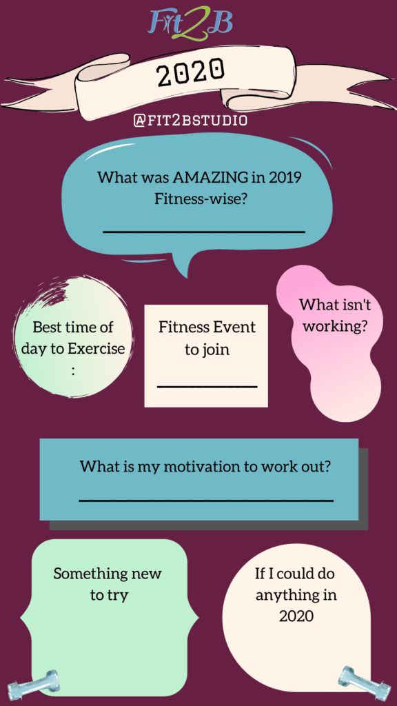 Instagram story shareable about January 2020 fitness & workout goals! - Fit2B.com - Instagram story shareable about January 2020 fitness & workout goals! Save this image then post it to your IG story with your answers in the blanks! Be sure to tag us!