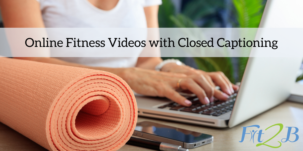Online Fitness Videos with Closed Captioning for the Hearing Impaired and Parents of Napping Children - Fit2B.com - Fit2B knows moms have different needs and some of those needs require closed captions. Whether you have hearing loss, are hard of hearing, or are exercising during naptime and need to keep the volume down, we've got your back! Because fitness and exercise, especially the kind that helps women rebuild their cores after diastasis recti, should be accessible whether you can hear, are deaf, or have other needs. #fit2b #diastasis #diastasisrecti #deafawareness #exercise #fitness #closedcaptions