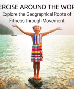 """Exercise Around The World: Explore The Geographical Roots of Fitness through Movement - Fit2B.com - Fit2B knows women wonder, """"What can I do to stay motivated to exercise?"""" Beth Learn, core fitness specialist, knows fitness motivation fades quickly without something new and fun to learn. Her newest course uses a variety of civilizations around the world to spark that Monday motivation and keep you coming back to the routines and lessons day after day. Click through for access to this home workout with TummySafe diastasis recti exercises. #fit2b #diastasisrecti #homeworkout #fitnessmotivation"""