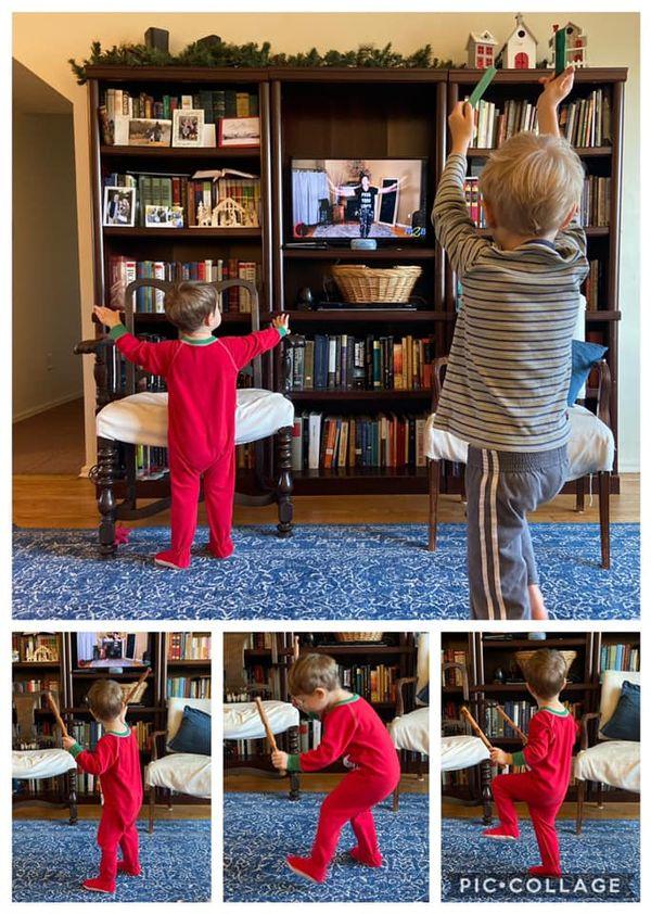 "Kids doing ""Black Battlesticks"" with Lincoln Logs on Fit2B"