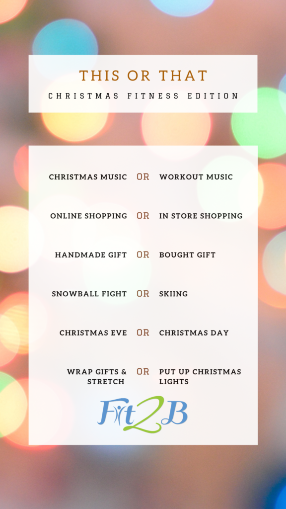 Instagram Story Shareable: This or That Christmas Fitness Edition