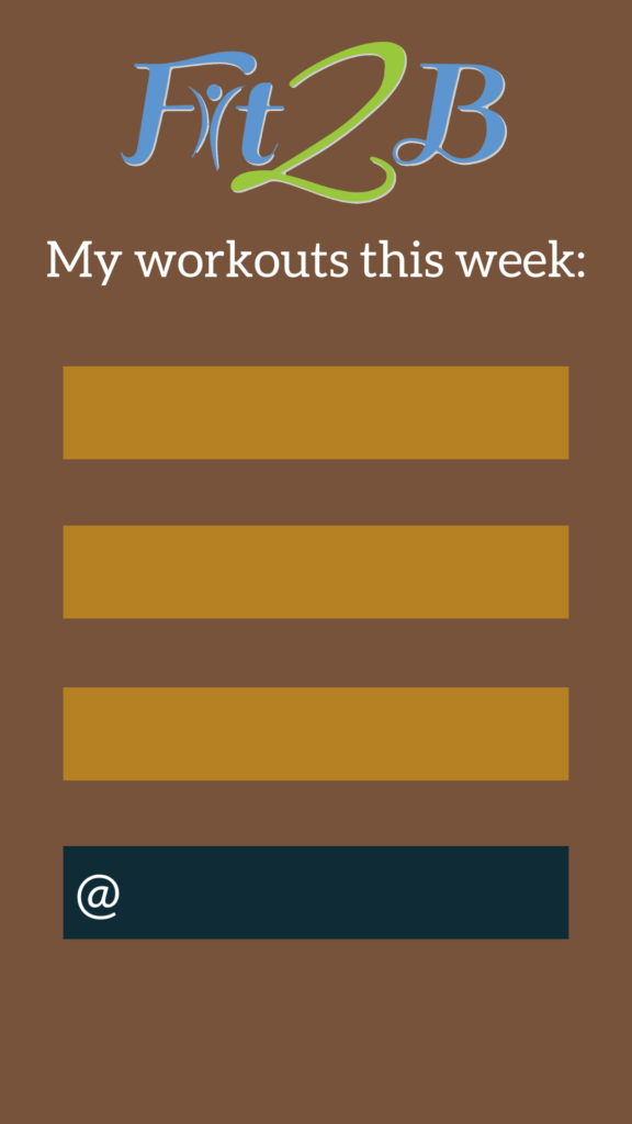 Instagram Story Shareable: My Workouts This Week