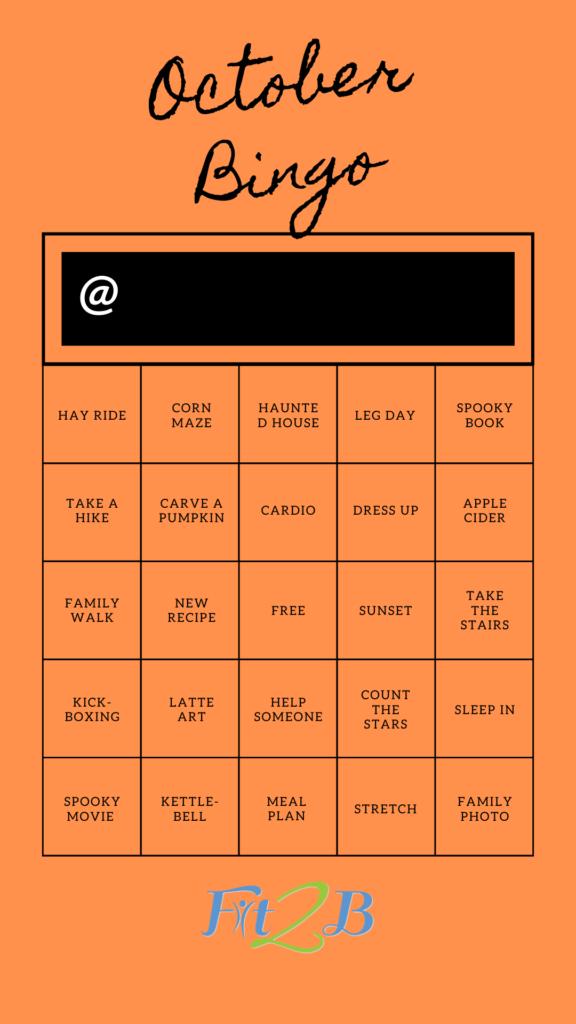 Instagram Story Shareable: October Bingo