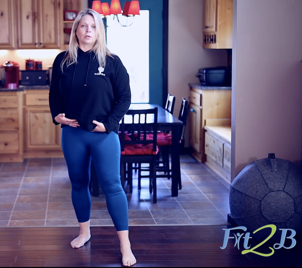 """Learn strategies to involve the """"floor of your core"""" in dynamic movements such as side steps, bounces, hops, side lunges, and jumping in this home exercise routine on fit2b.com"""