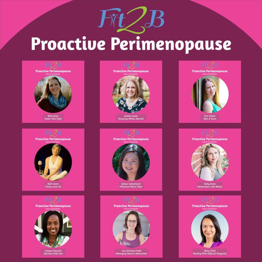 The contributors of Proactive Perimenopause - fit2b.com
