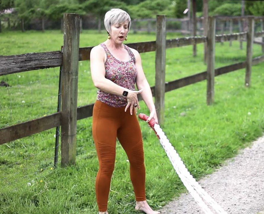 Standing Arm + Ab Workout with Battle Ropes - fit2b.com